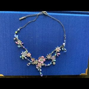 Rare Anna SUI Signed Jewelry Necklace, flowers